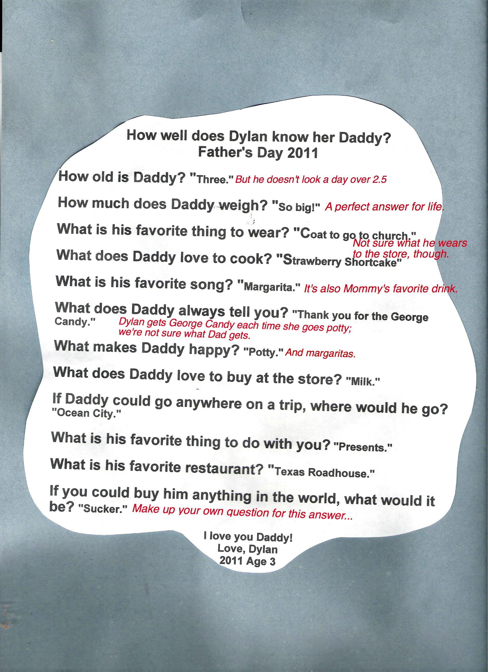 Fathers Day Stuff Kids Write