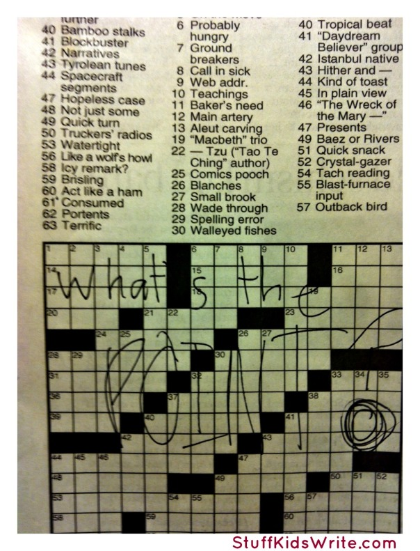 What's the point crossword